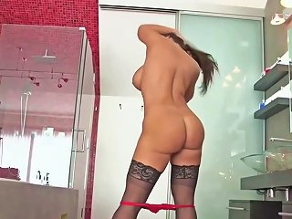 UPORNIA @ Brunette Milf With Big Fake Tits Analised And Foot Creamed Upornia Com