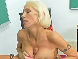 HDZOG @ Mature Blond Hottie Kasey Grant Fucked In Classroom By Rocco Reed